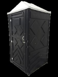 Туалетная кабина черная с баком