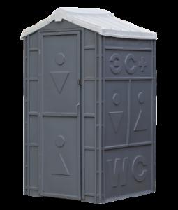 Серая туалетная кабина Экомарка