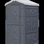 туалетная кабина стандарт серая