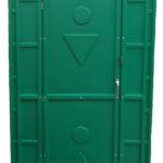 туалетная кабина зеленая
