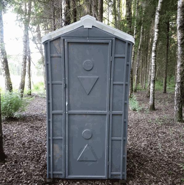 Туалетная кабина серая