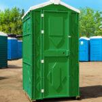 Туалетная кабина Эконом зеленая
